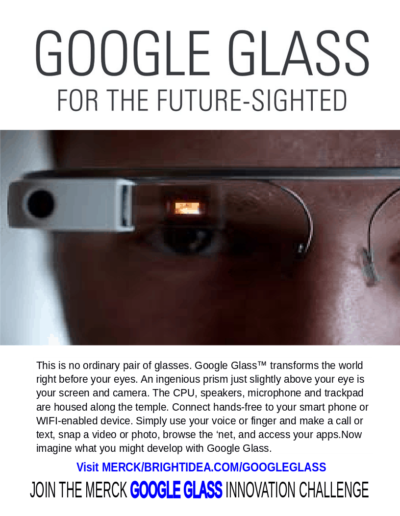 Google Glass Future-Sighted Poster